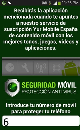 Servicio de Suscripción Yur Mobile España - Seguridad Móvil Protección Anti-Virus